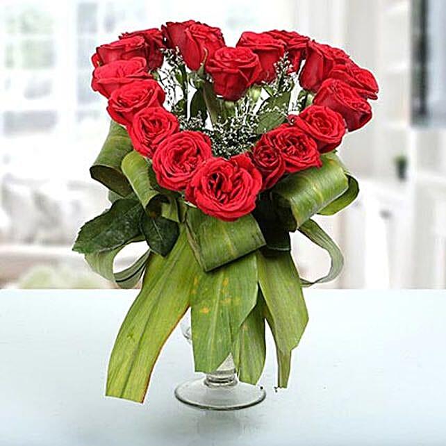 Heartshaped Vase Arrangement: Heart Shaped Flower Arrangements