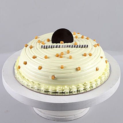 Heavenly Butterscotch Cream Cake: Buy Eggless Cakes