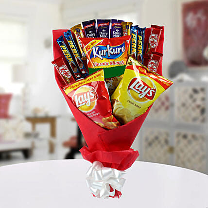 High on Snack Bouquet: Chocolate Bouquet