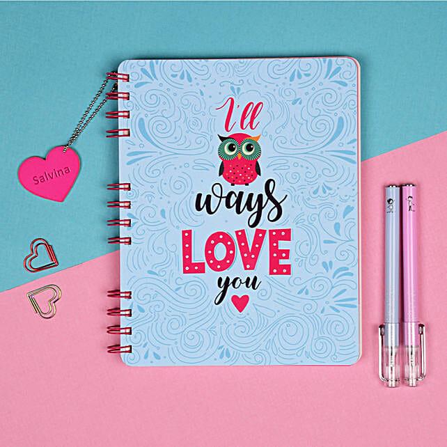 Hopeless Romantic Personalised Notebook: