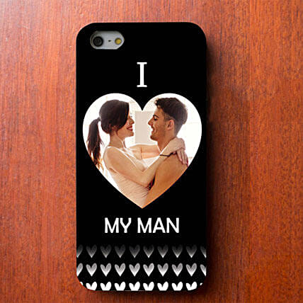 I Love My Man Personalized iPhone Cover: Personalised Back Covers