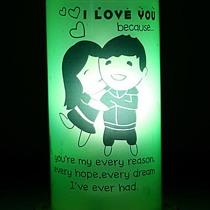 I Love You Because Lamp: Bottle Lamps
