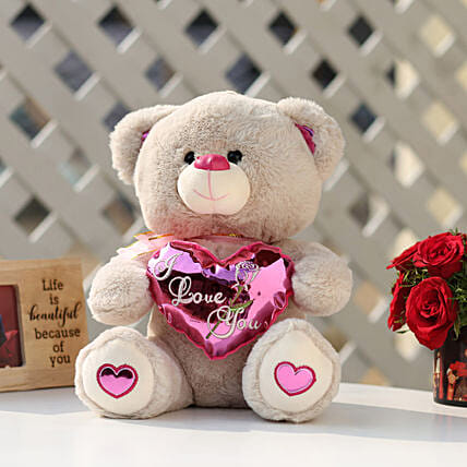 8258563c9 I Love You Teddy Bear With Pink Heart  Soft Toys Gifts