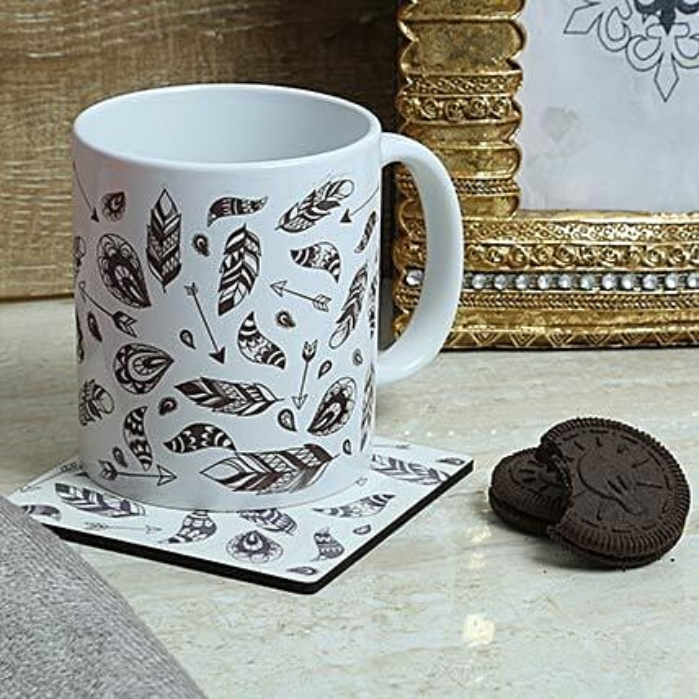 Ideal Printed Mug With Coaster: Coasters Gifts