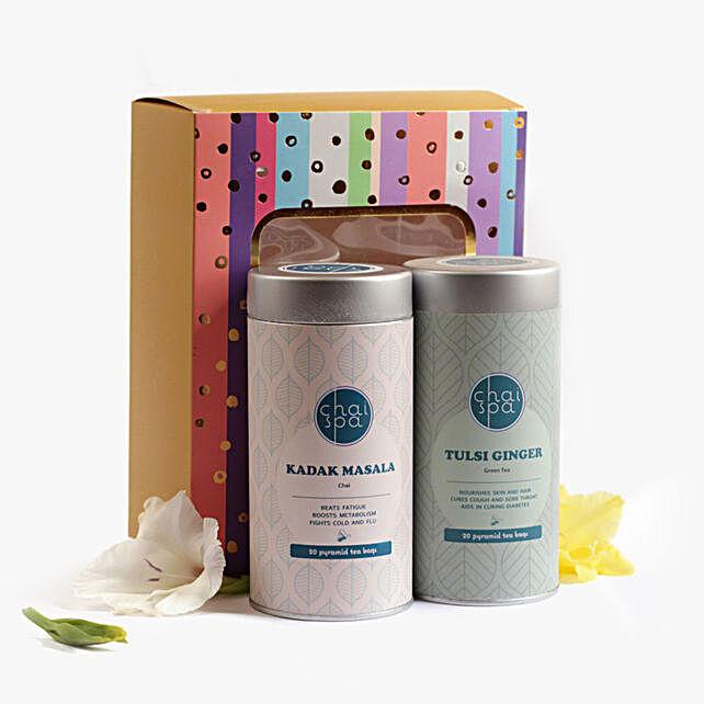 Kadak Masala & Tulsi Ginger Green Tea Paradise Combo: Gift Hampers