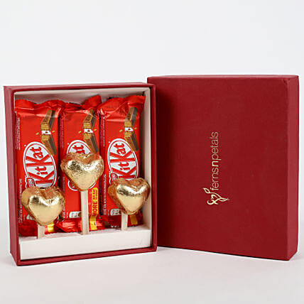 Kit-Kat & Handmade Chocolate in FNP Gift Box: Homemade Chocolate Gifts