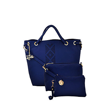 LaFille Elegant Blue Handbag Set: Buy Handbags