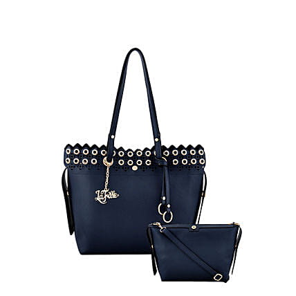 LaFille Pretty Blue Handbag Set: Buy Handbags