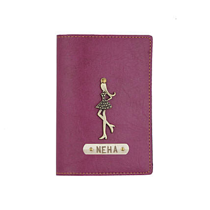 Leather Finish Passport Cover Purple: Accessories