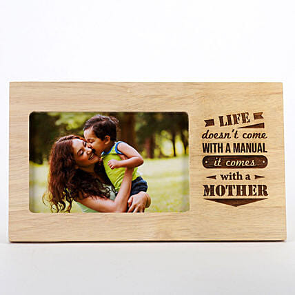 Life Comes With A Mother Photo Frame: Personalised Engraved