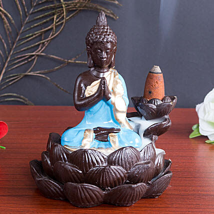 Lord Buddha Incense Burner Blue: 1St Anniversary Gifts