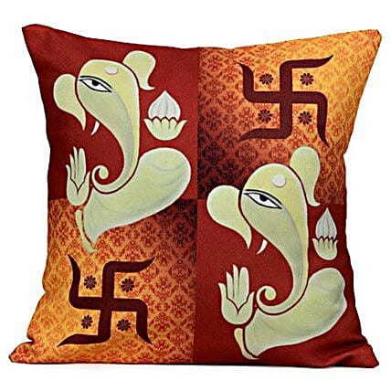 Lord Ganesha Cushion: Ganesh Chaturthi Gifts