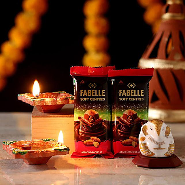 Lord Ganesha Idol Diwali Hamper: Chocolate Combos