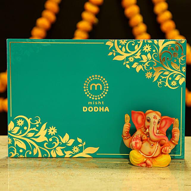 Lord Ganesha Idol & Dodha Burfi: Sweets for Diwali