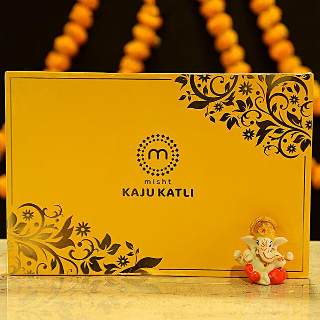 Lord Ganesha Idol & Kaju Katli: Sweets Delivery