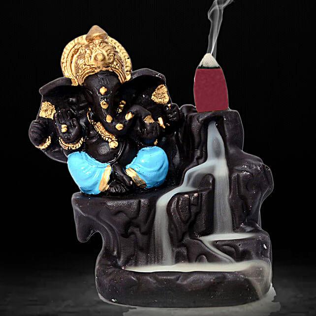 Lord Ganesha Incense Burner- Blue: Funny Gifts