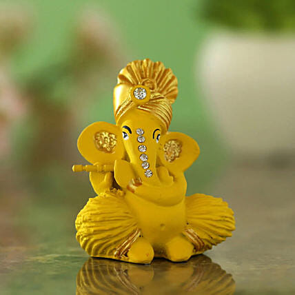 Lord Ganesha With Mukut Idol: Send Diwali Gifts for Parents