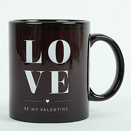 Love Ceramic Black Mug: Gifts to Madurai
