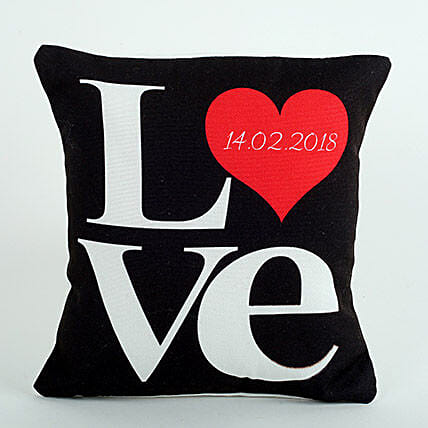 Love Cushion Black: Gifts for 10Th Anniversary