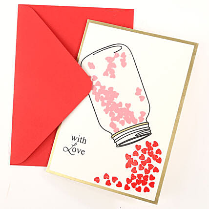 Love Jar Greeting Card: Hug Day Gifts