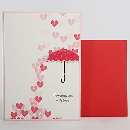 Love Umbrella Greeting Card: Gifts for Hug Day