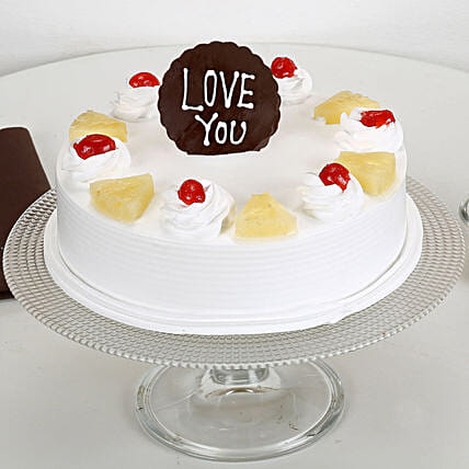 Love You Valentine Pineapple Cake: Cakes for Birthday