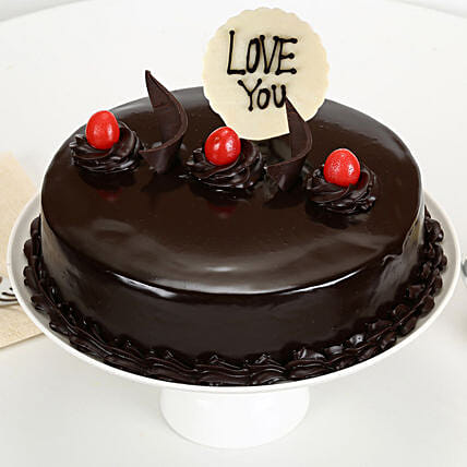 Love You Valentine Truffle Cake: Birthday Cakes