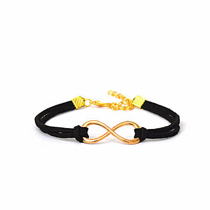 Majestic Black Infinity Bracelet: Friendship Day Bands