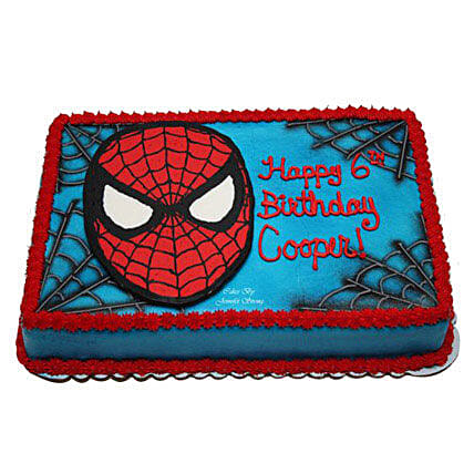 Mask of Spiderman Cake: Designer Cakes