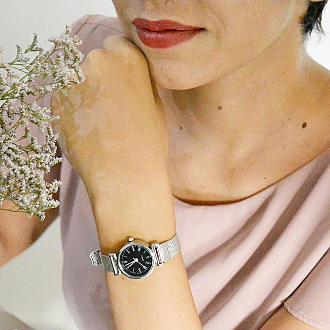 Metallic Black Watch: Gift for Girlfriend Day