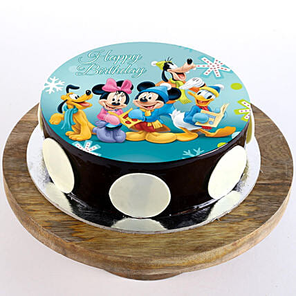 Mickey Clubhouse Chocolate Photo Cake: Super Hero Themed Cakes
