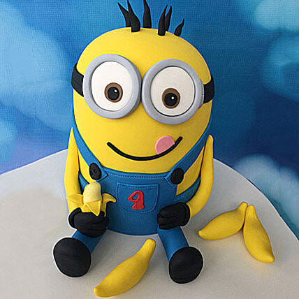 Minion with Bananas Cake: Cartoon Cakes