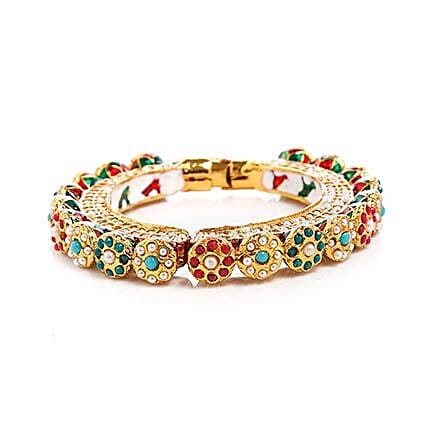 Multicolor Kundan Bangle: Fashion Accessories