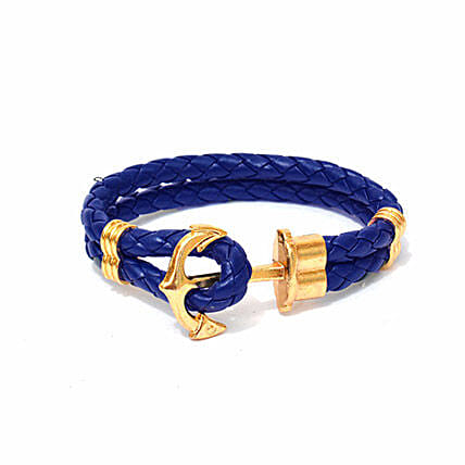 Navy Anchor Braided Bracelet: Friendship day Bracelets