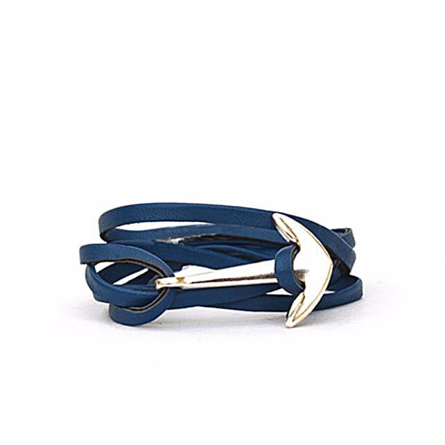 Navy Anchor Loop Bracelet: Friendship Day Bands