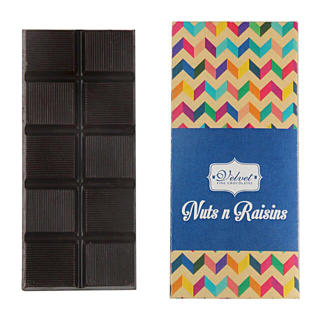 Nuts And Raisins Dark Chocolate Bar: Holi Chocolates
