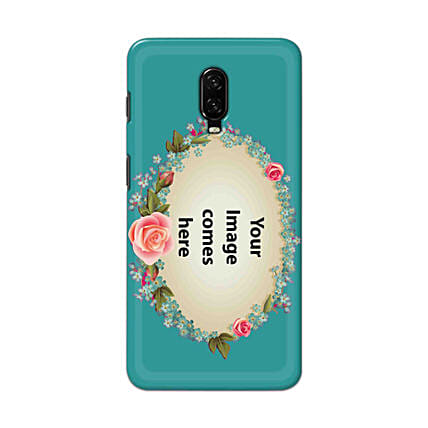 One Plus 6T Customised Floral Mobile Case: Personalised One Plus Mobile Covers