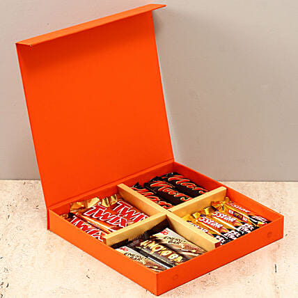 Orange FNP Box Of Chocolates: Thinking Of You