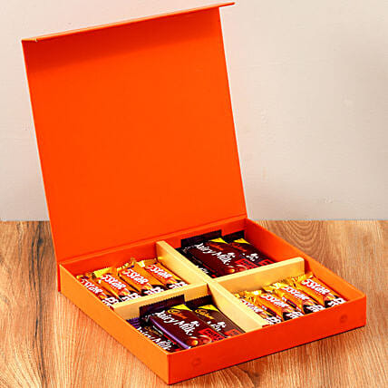 Orange Gift Box Of Chocolates: Thinking Of You
