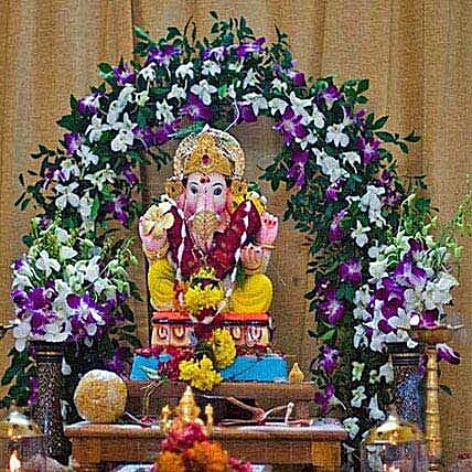 Orchids Special Ganpati Decoration: Orchids
