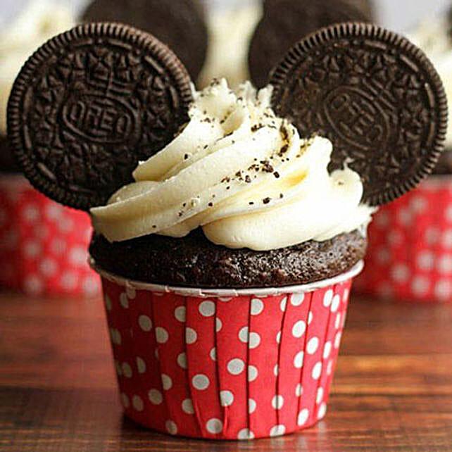 Oreo Twirling Cupcakes: