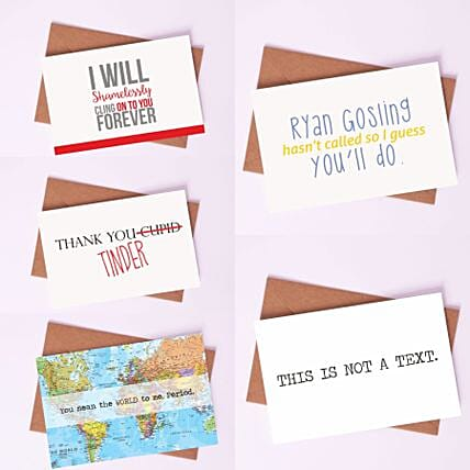 Pack of Quirky Love Cards: Buy Greeting Cards