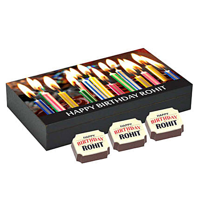 Personalised 6 Chocolate Box For Birthday: Personalised Chocolates
