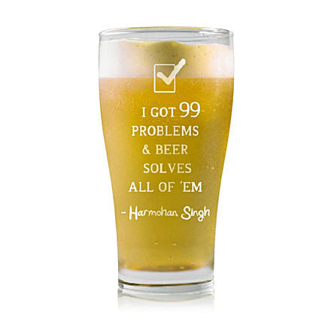 Personalised Beer Glass 2223: Personalised Beer Glasses