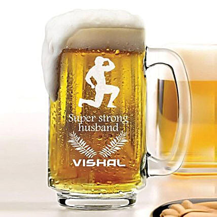 Personalised Beer Mug 1078: Personalised Beer Glasses