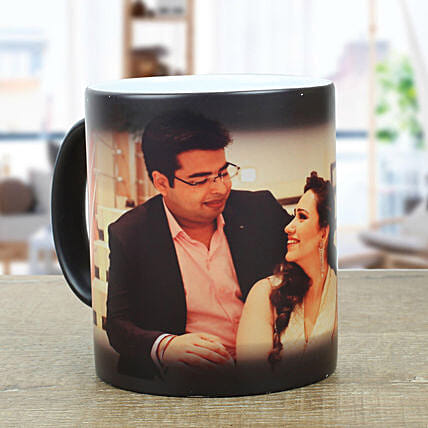 Personalised Black Magical Mug: Custom Photo Coffee Mugs