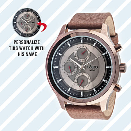 Personalised Black Watch For Him: Personalised Accessories