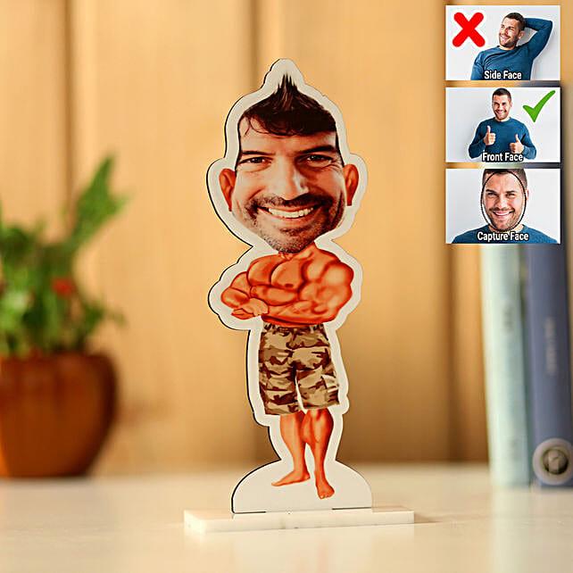 Personalised Body Builder Caricature: Caricatures