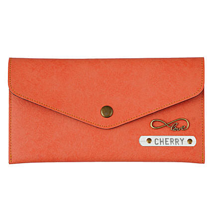 Personalised Charm Purse- Coral:
