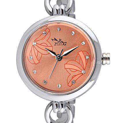 Personalised Classy Silver Watch: